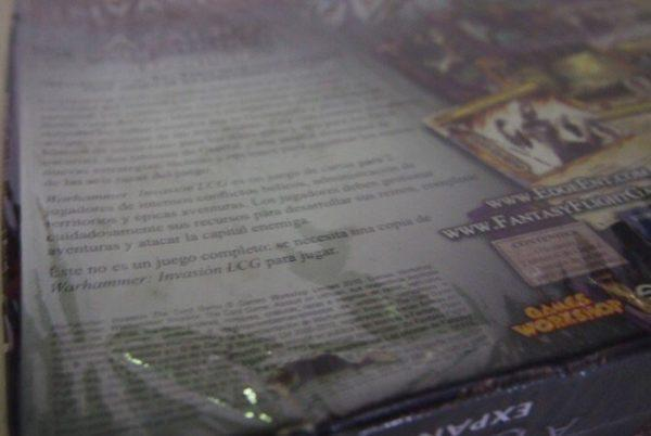 WARHAMMER INVASION, EXPANSION ASALTO A ULTHUAN, JUEGO DE CARTASLCG