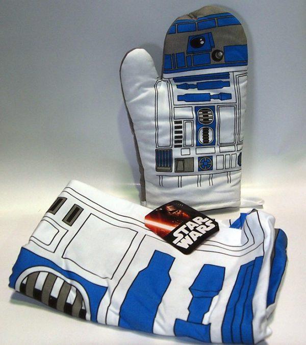 R2-D2 DELANTAL Y MANOPLA STAR WARS. ACCESORIOS