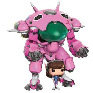 SET MEKA CON D.VA CONDUCTOR POP GAMES OVERWATCH FUNKO SERIE POP, FIGURAS 15 Y 5 CM VINYL.
