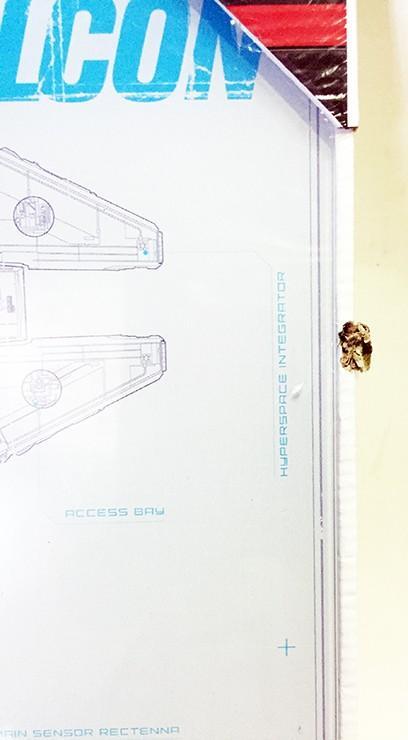 HALCON MILENARIO PLANOS POSTER DE VIDRIO STAR WARS EP7 30x60 CM