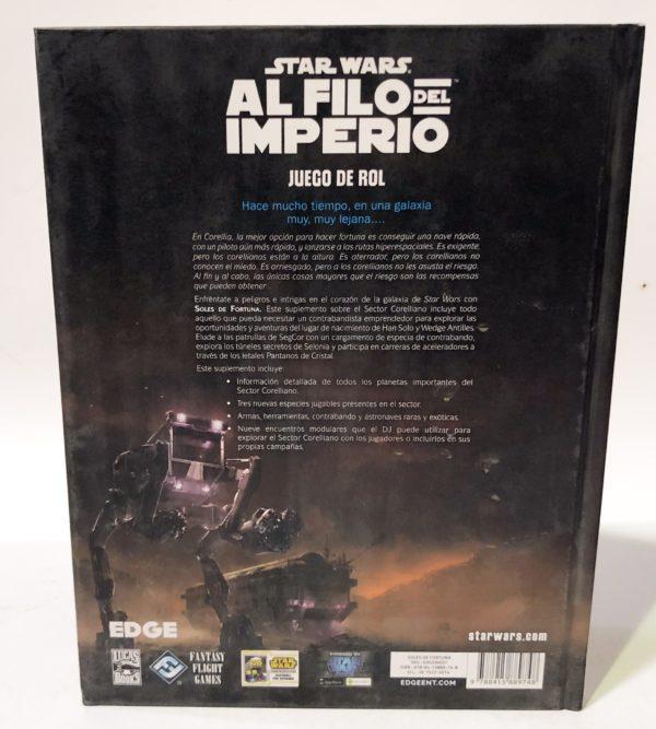 STAR WARS AL FILO DEL IMPERIO. SOLES DE FORTUNA, SUPLEMENTO CORELIANO, JUEGO DE ROL