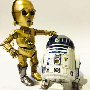 PACK STAR WARS 2 FIGURAS HYBRID METAL R2D2 & C-3PO Herocross Action Figures, 14 Y 18 CM