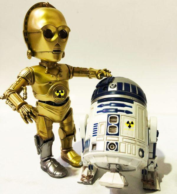 PACK STAR WARS 2 FIGURAS HYBRID METAL R2D2 & C-3PO Herocross Action Figures, 14 Y 18 CM